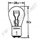 Ampoule de feu arrière et feu stop 6V, double filament
