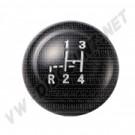 Pommeau de levier de vitesse noir diam 10mm T1-->61 T2-->67