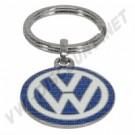 Porte clés émaillé logo VW diamètre 3cm