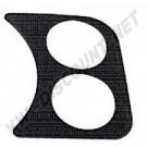 Plaque support manomètre noire 2 trous