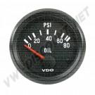 manometre de pression d'huile 0-10 bars diam 52mm VDO