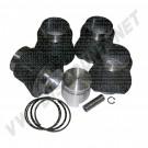 Kit cylindrée 2412cc pistons plats 104mm pour moteur Type 4 2000cc