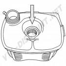 Vase d'expansion avec trou pour sonde sans bouchon pour Golf 1 171121407F