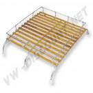 ZVW47A   Galerie de toit Combi  50-->79 style origine  3 barres de fixation et lattes en bois