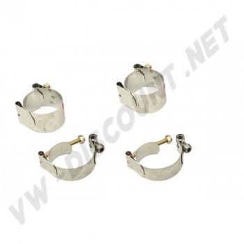 Kit 4 colliers inox pour barre stabilisatrice (rotules ou pivots)