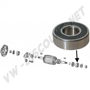 Roulement de dynamo avant / arrière et alternateur arrière diamètre 35mm 111 903 221A 111903221A  | Dream-Machine.fr