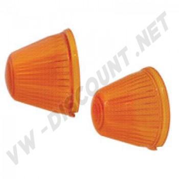 141953161A Cabochons de clignotant obus orange avant Ghia 59-64, la paire