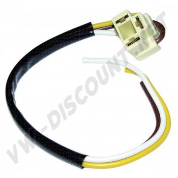3 pôles + câble pour phare VW depuis 60-> 161 941 165 A 161941165A VW | Dream-Machine.fr