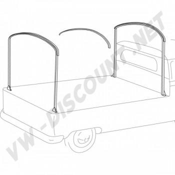 Arceaux pour pick-up simple ou double cabine en métal brut 261871061   Dream-Machine.fr