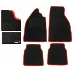 Jeu de 4 tapis de sol noir avec liseré rouge Coccinelle tous modèles