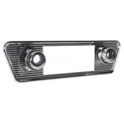 """Façade chromée pour autoradio """"Retrosound"""" avec boutons chromés Karmann Ghia"""