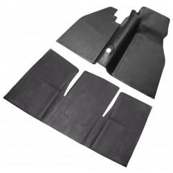 Tapis en caoutchouc avant et arrière noir 1968-1972